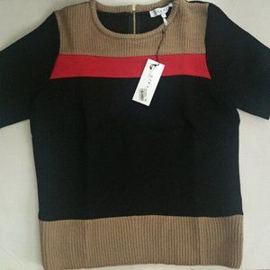 NWT Sandro sillon sweater mixed top size 2
